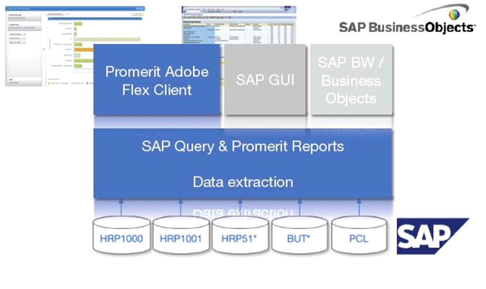 Screenshots Das komplexe Datenmodell des SAP