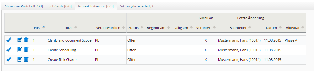 Einzelprojektmanagement
