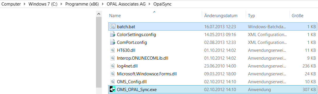 SYSTEM HANDBUCH OMS-OPAL-SYNC VERSION 2.1.