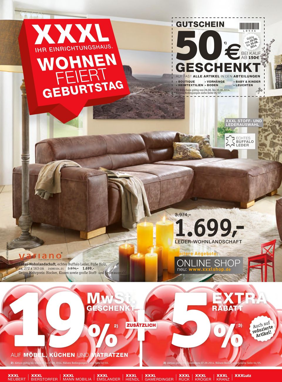 19 2 extra mwst online shop gutschein rabatt. Black Bedroom Furniture Sets. Home Design Ideas