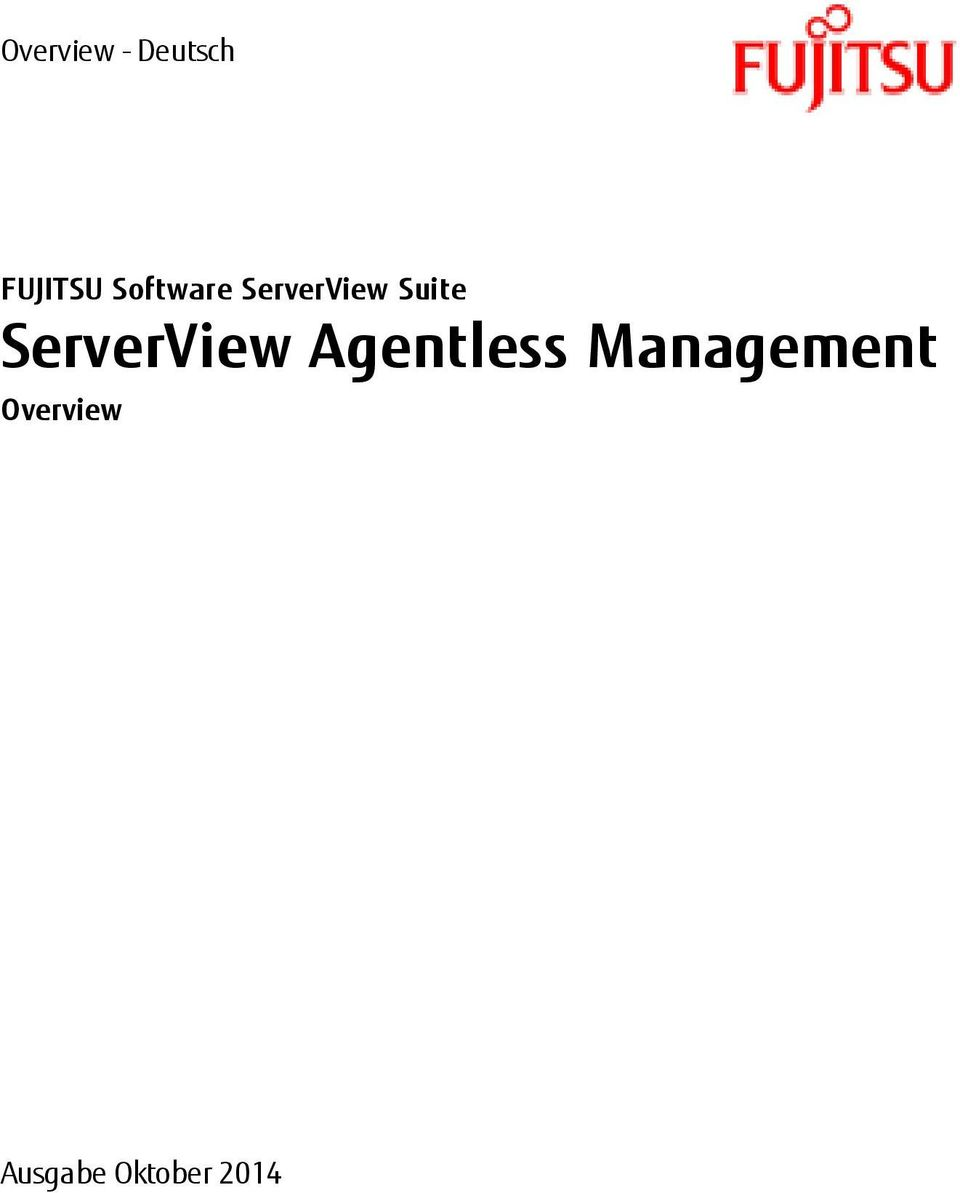 ServerView Agentless