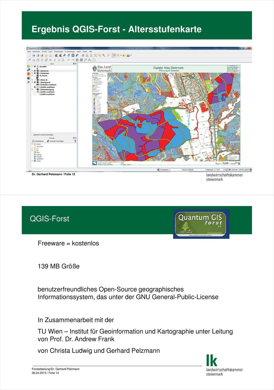 Open-Source geographisches Informationssystem, das unter der GNU General-Public-License In