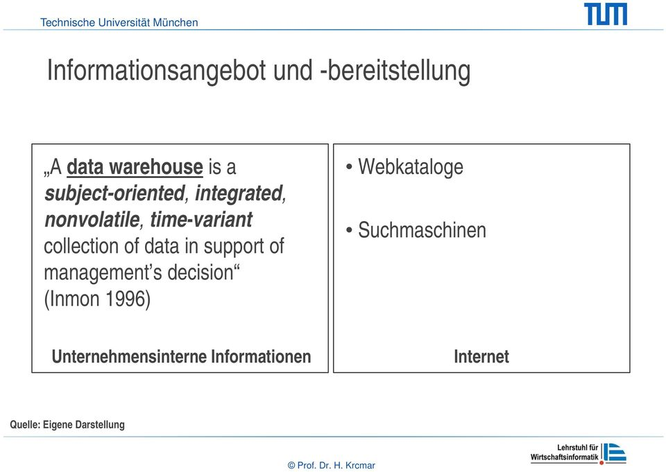 data in support of management s decision (Inmon 1996) Webkataloge