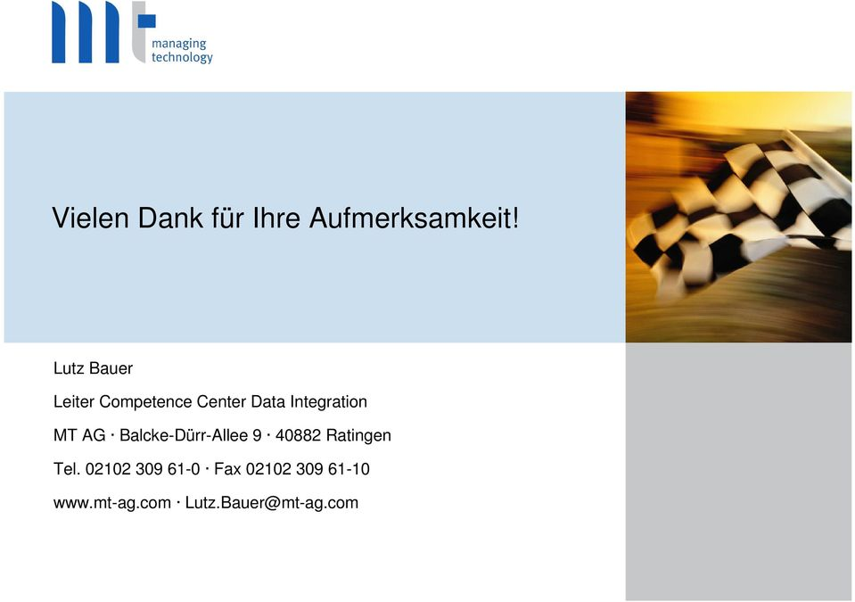 Integration MT AG Balcke-Dürr-Allee 9 40882
