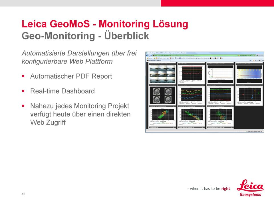 PDF Report Real-time Dashboard Nahezu jedes Monitoring