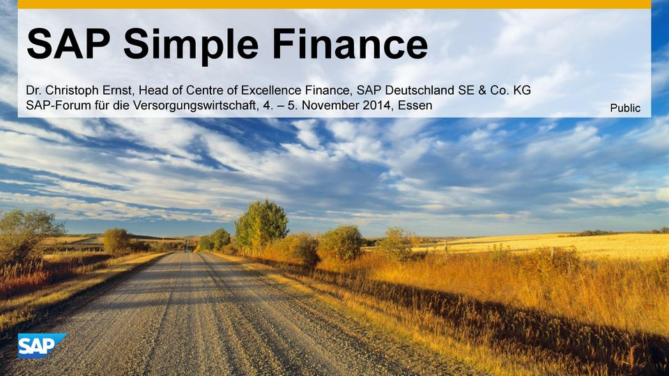 Excellence Finance, SAP Deutschland SE & Co.