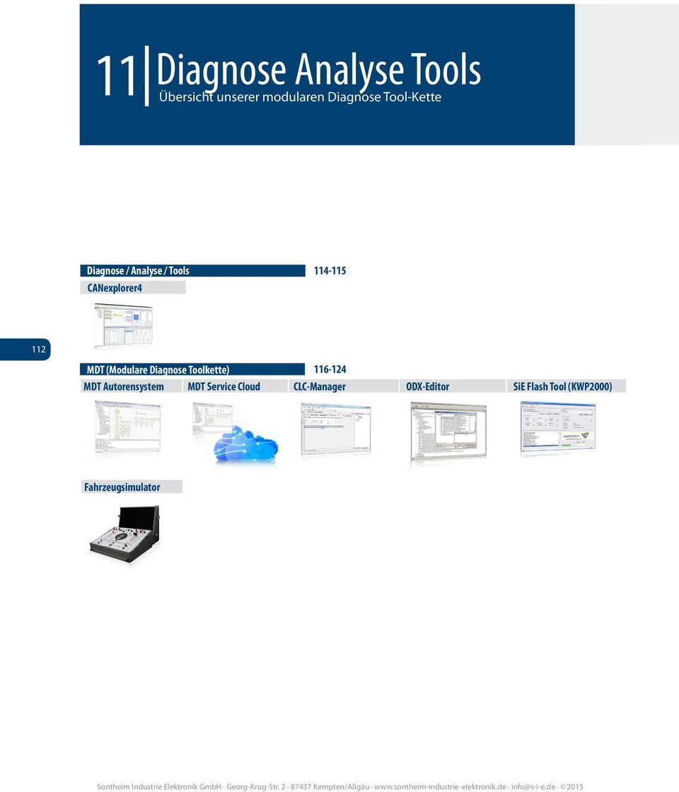 MDT (Modulare Diagnose Toolkette) 116-124 MDT Autorensystem MDT