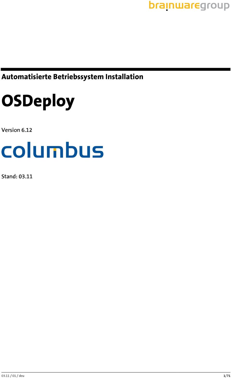 Installation OSDeploy