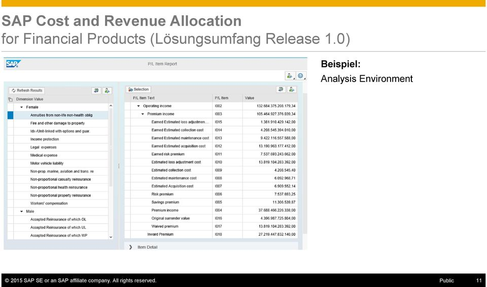 0) Beispiel: Analysis Environment 2015 SAP SE