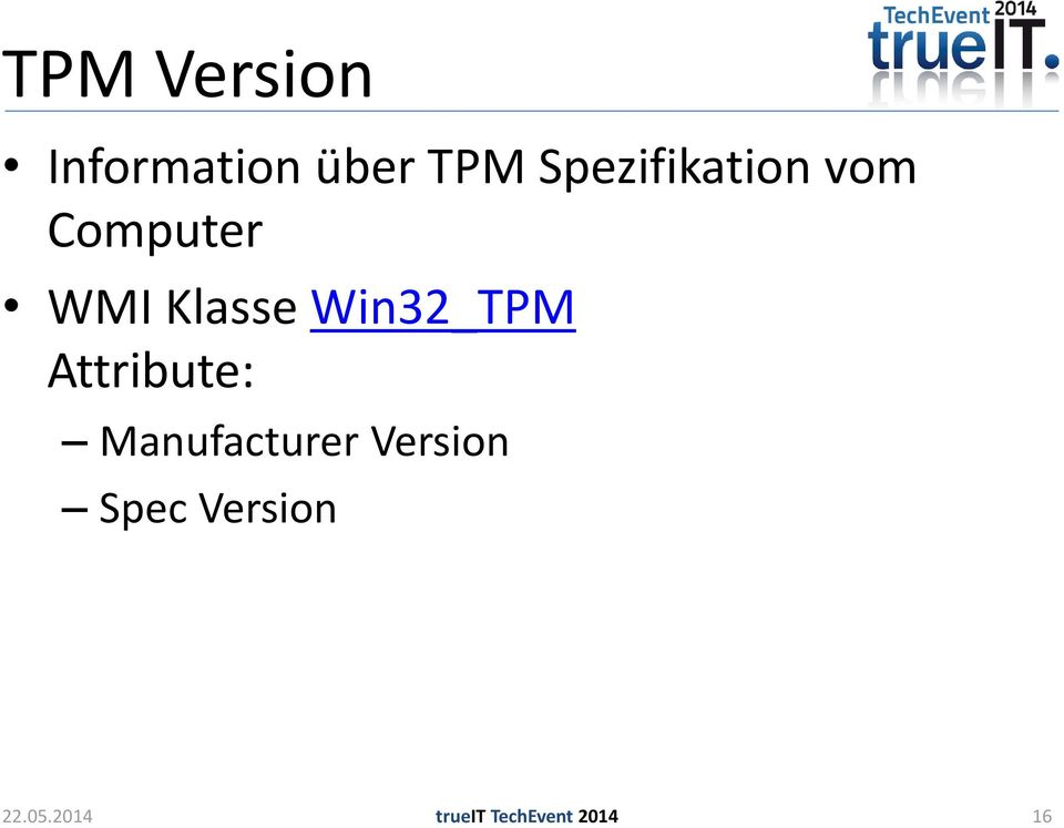 Win32_TPM Attribute: Manufacturer