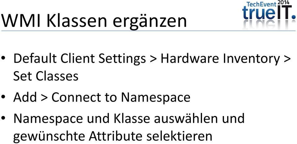 Add > Connect to Namespace Namespace und