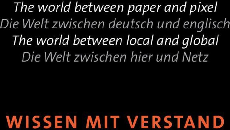 world between local and global Die Welt
