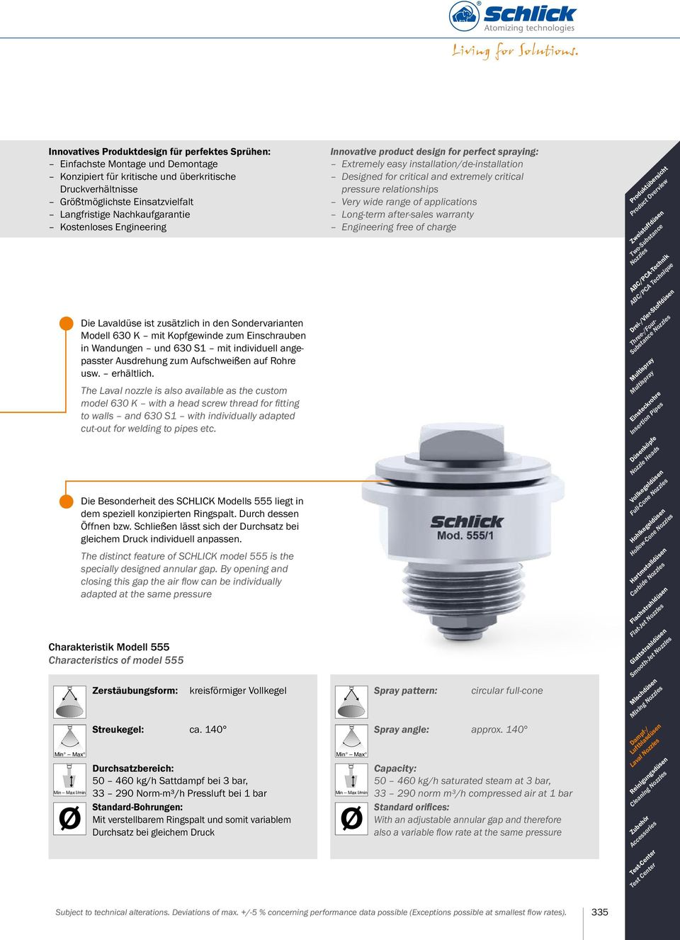 enclosed spaces and containers Produktübersicht Product Overview Zweistoffdüsen Two-Substance Nozzles ABC/PCA-Technik ABC/PCA Technique Drei-/Vier-Stoffdüsen Three-/Four- Substance Nozzles