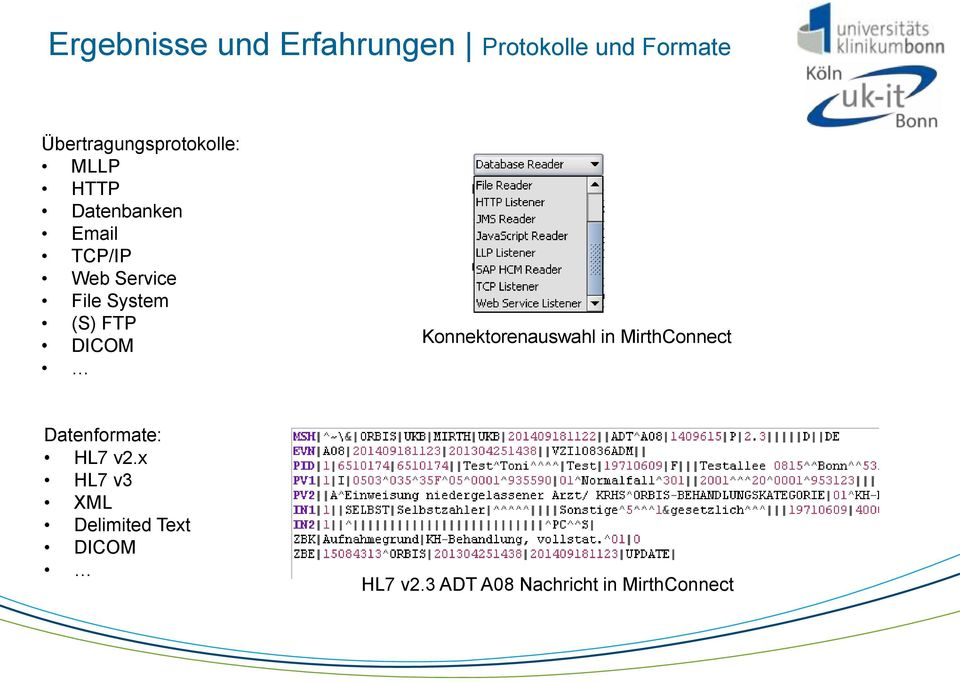 Service File System (S) FTP DICOM Konnektorenauswahl in MirthConnect