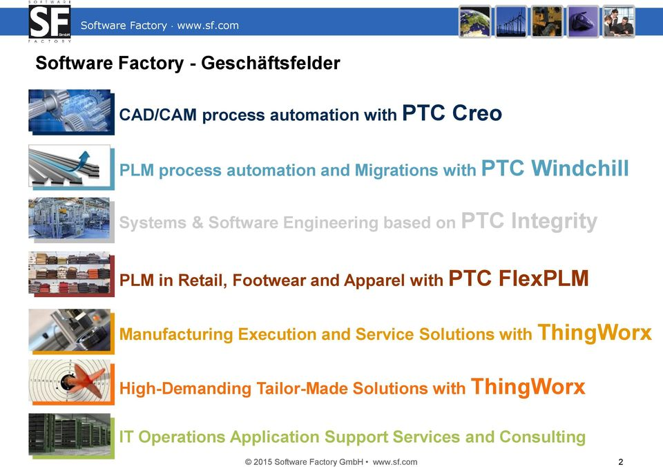 Apparel with PTC FlexPLM Manufacturing Execution and Service Solutions with ThingWorx High-Demanding Tailor-Made