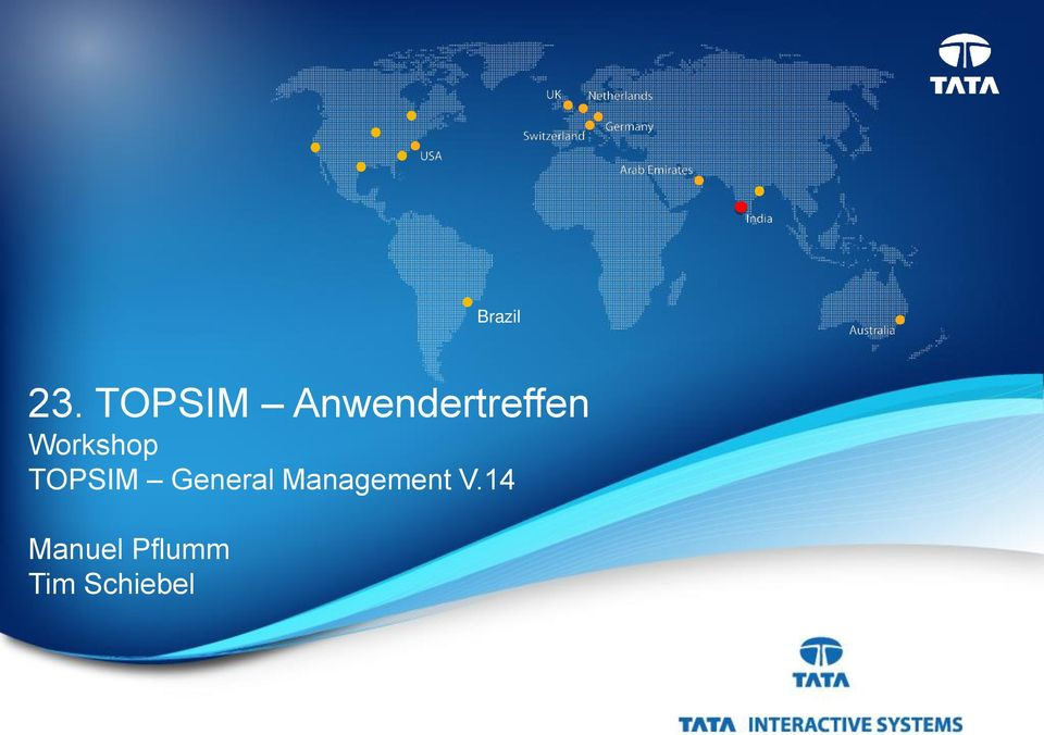 Workshop TOPSIM General