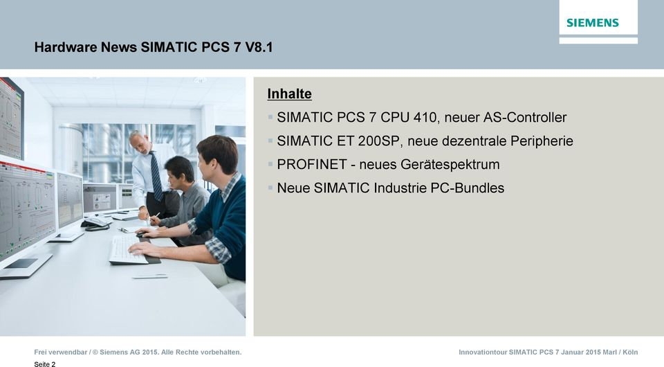 AS-Controller SIMATIC ET 200SP, neue dezentrale