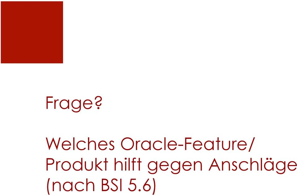 Oracle-Feature/