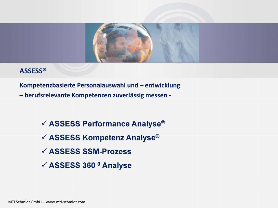 zuverlässig messen - ASSESS Performance Analyse