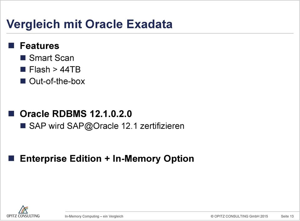 1.0.2.0 SAP wird SAP@Oracle 12.