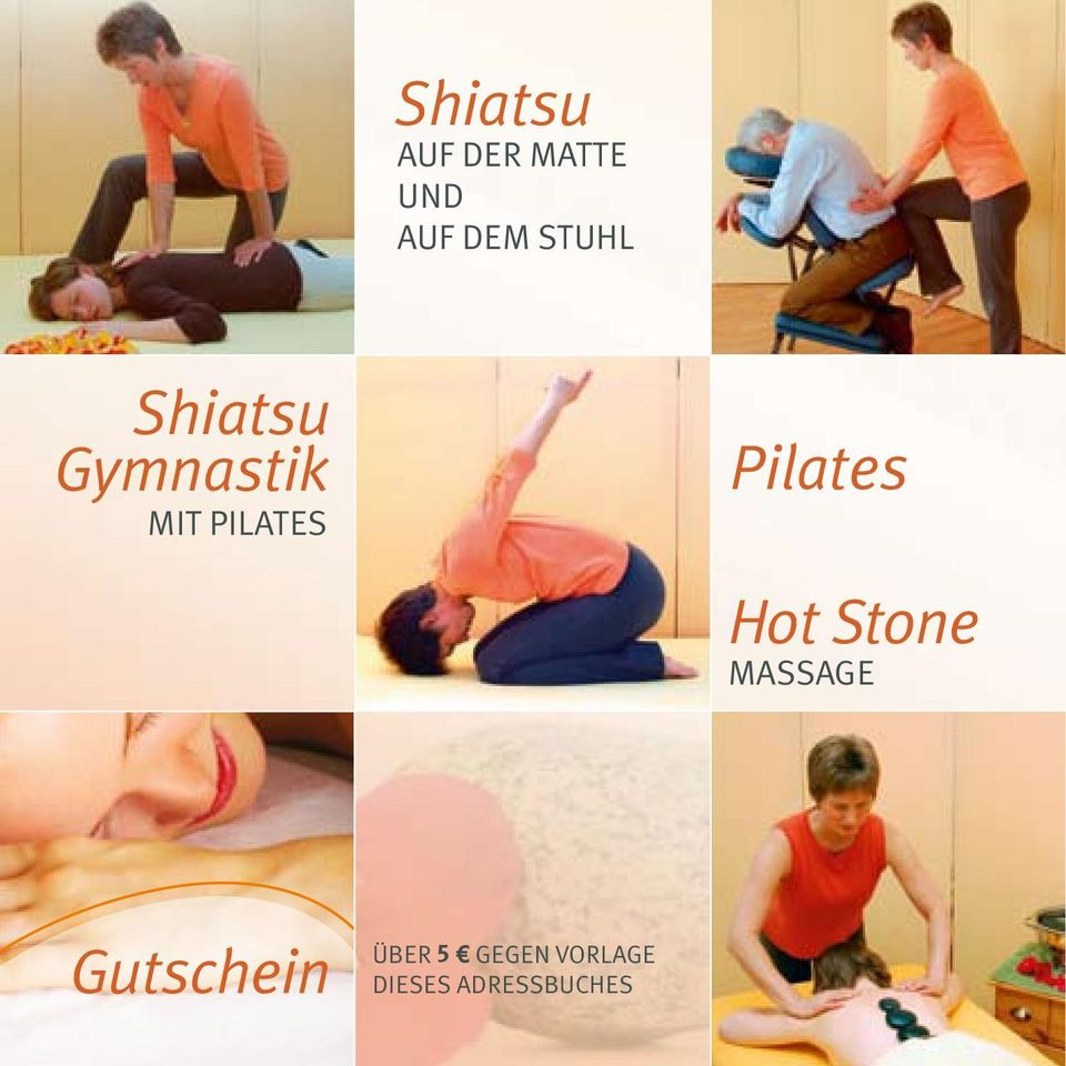 Pilates Hot Stone Massage Gutschein