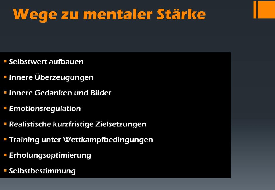 Emotionsregulation Realistische kurzfristige