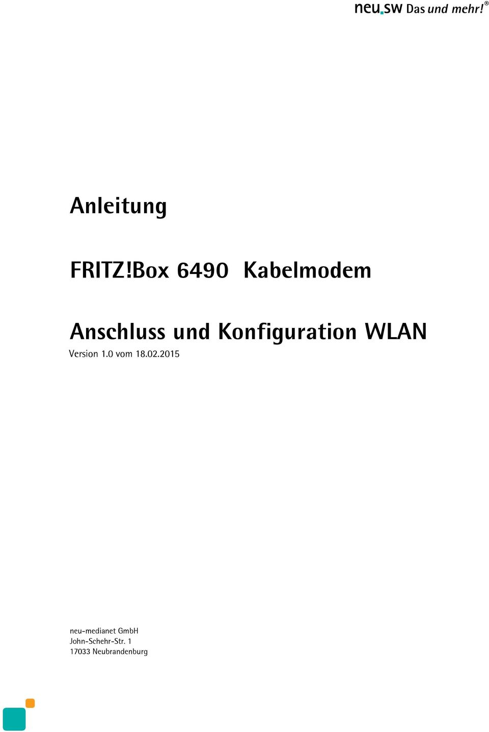 Konfiguration WLAN Version 1.