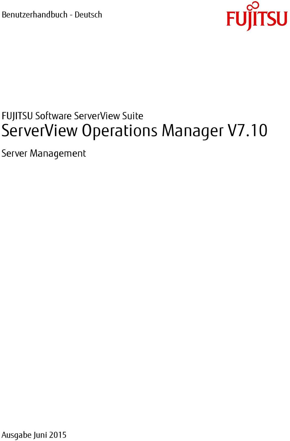 Suite ServerView Operations