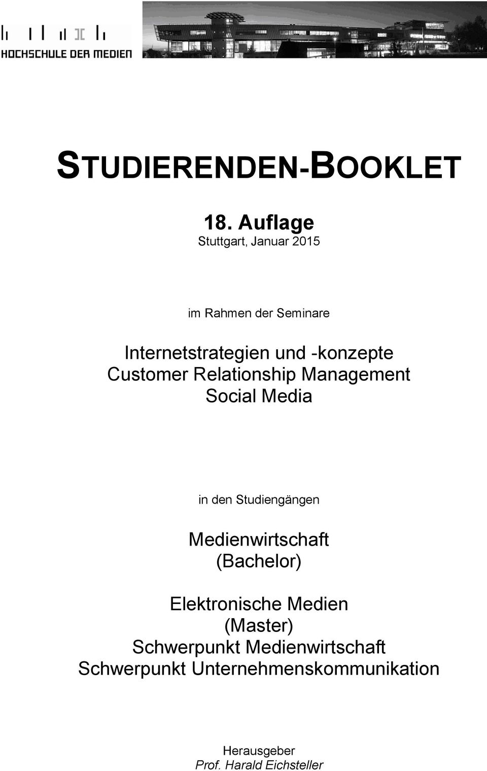 -konzepte Customer Relationship Management Social Media in den Studiengängen