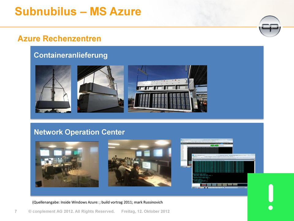 (Quellenangabe: Inside Windows Azure: ; build