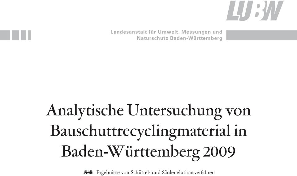 Bauschuttrecyclingmaterial in Baden-Württemberg