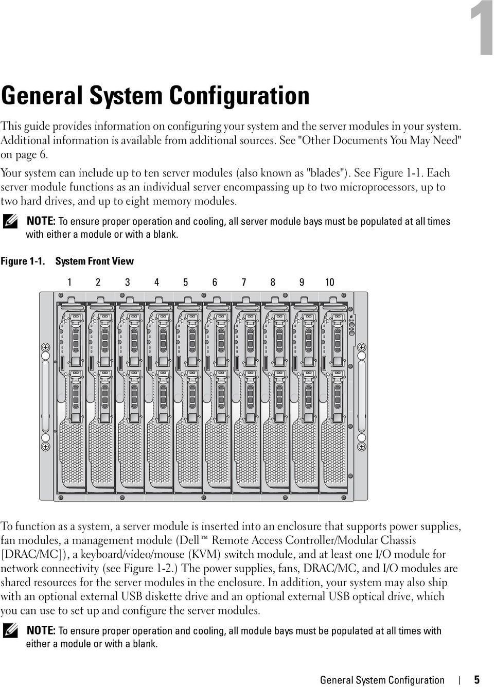 Each server module functions as an individual server encompassing up to two microprocessors, up to two hard drives, and up to eight memory modules.
