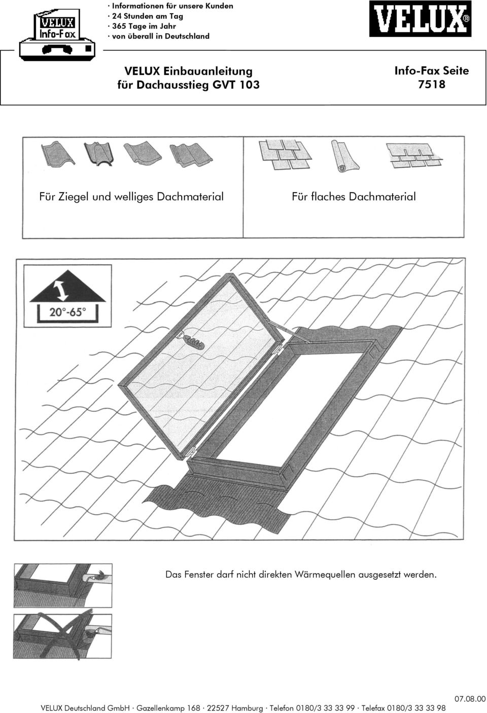 velux einbauanleitung f r dachausstieg gvt pdf. Black Bedroom Furniture Sets. Home Design Ideas