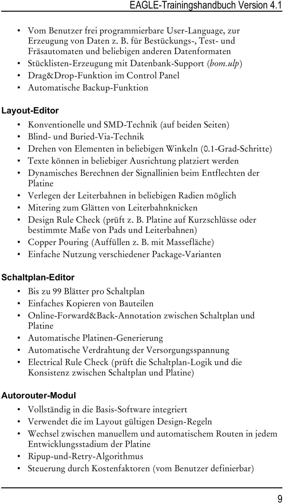 eagle trainingshandbuch version 4 1 schaltplan layout autorouter cadsoft computer gmbh pdf. Black Bedroom Furniture Sets. Home Design Ideas
