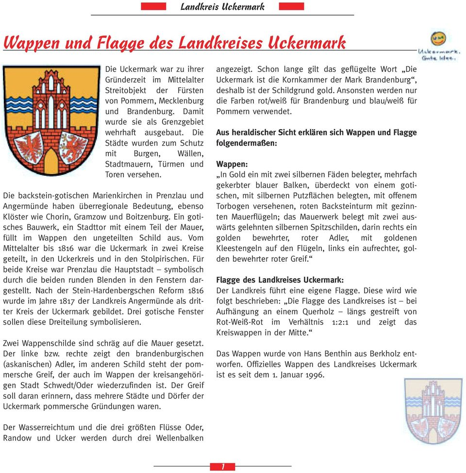 wappen und flagge des landkreises uckermark pdf. Black Bedroom Furniture Sets. Home Design Ideas