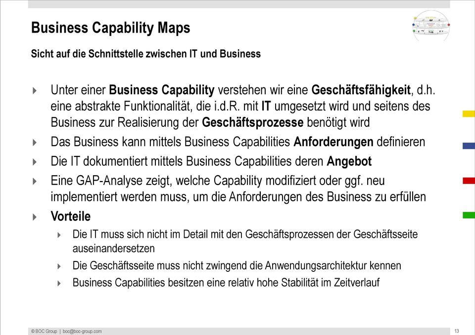 Business Capability vers