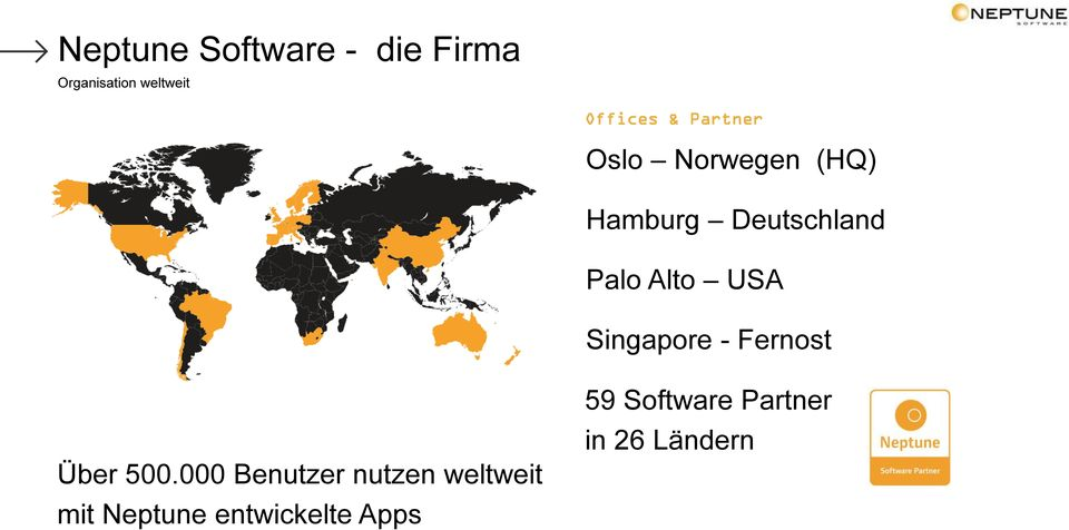 Singapore - Fernost 59 Software Partner in 26 Ländern Über