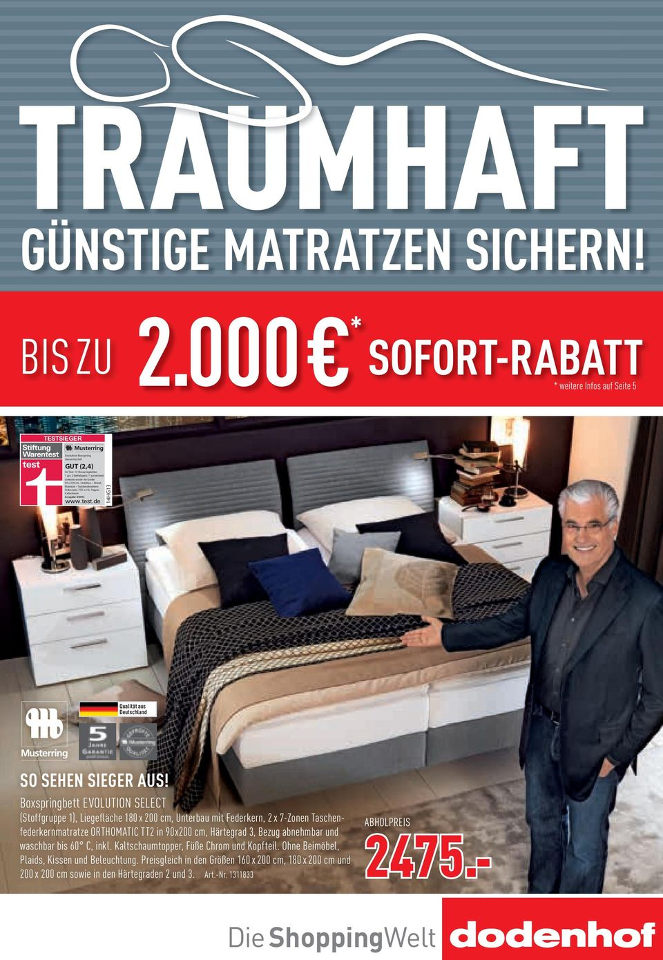 Boxspringbett warentest