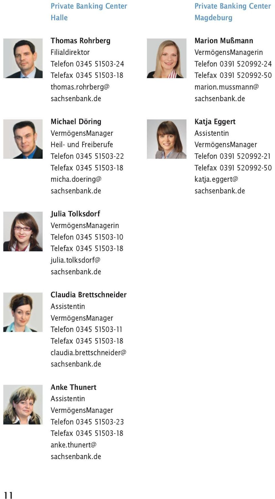 doering@ Private Banking Center Magdeburg Marion Mußmann in Telefon 0391 520992-24 Telefax 0391 520992-50 marion.