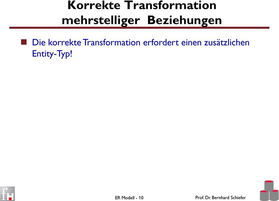 korrekte Transformation erfordert