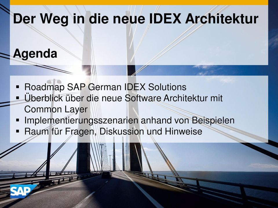 Architektur mit Common Layer Implementierungsszenarien
