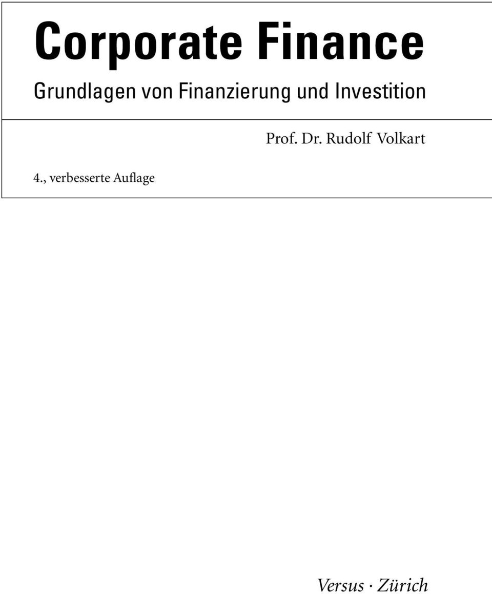 Investition Prof. Dr.