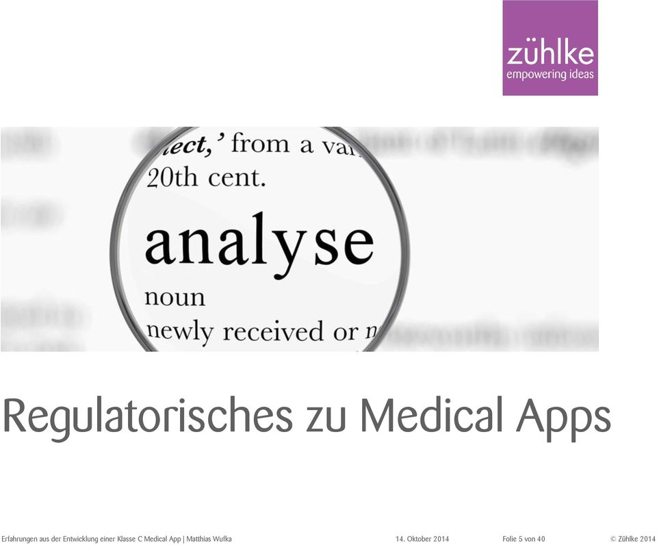 einer Klasse C Medical App