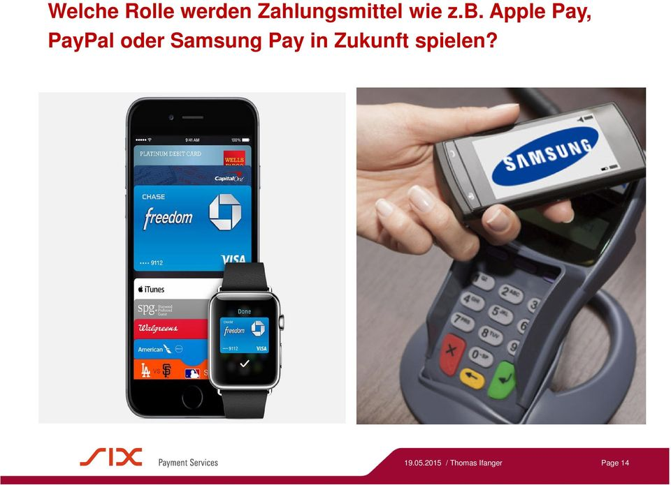 Apple Pay, PayPal oder