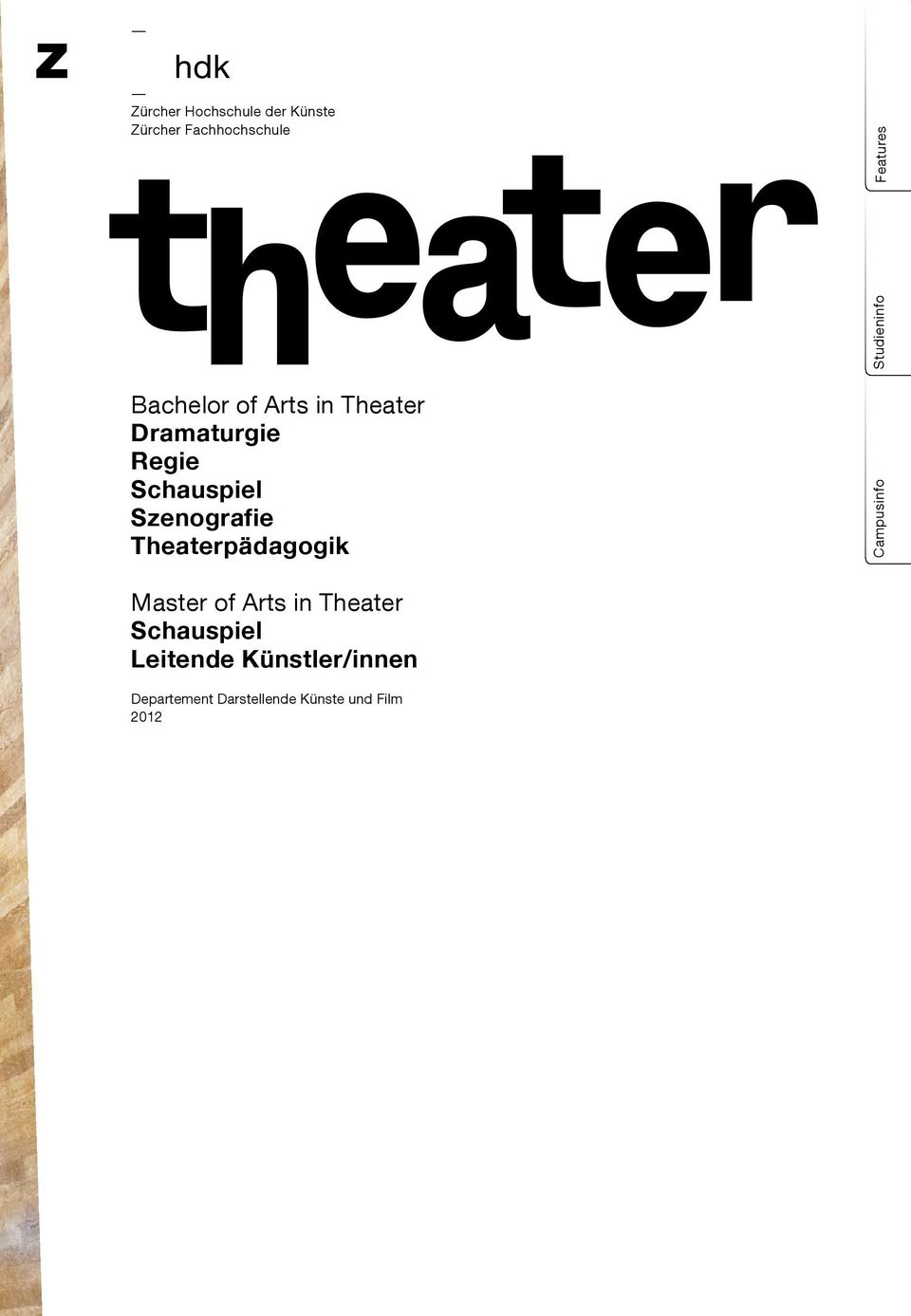 Theaterpädagogik Campusinfo Studieninfo Features Master of Arts in