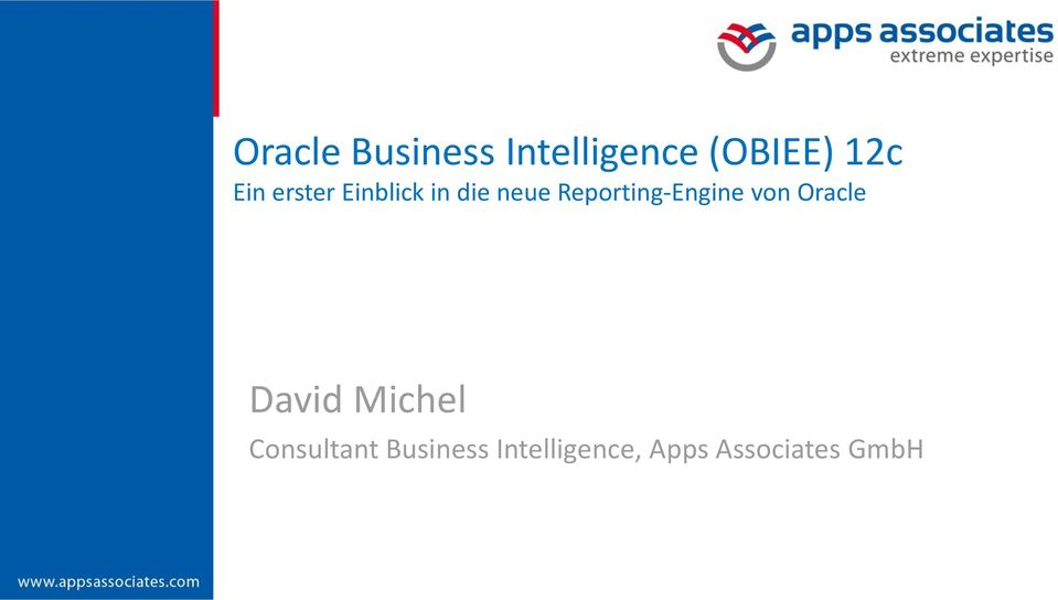 Reporting-Engine von Oracle David Michel