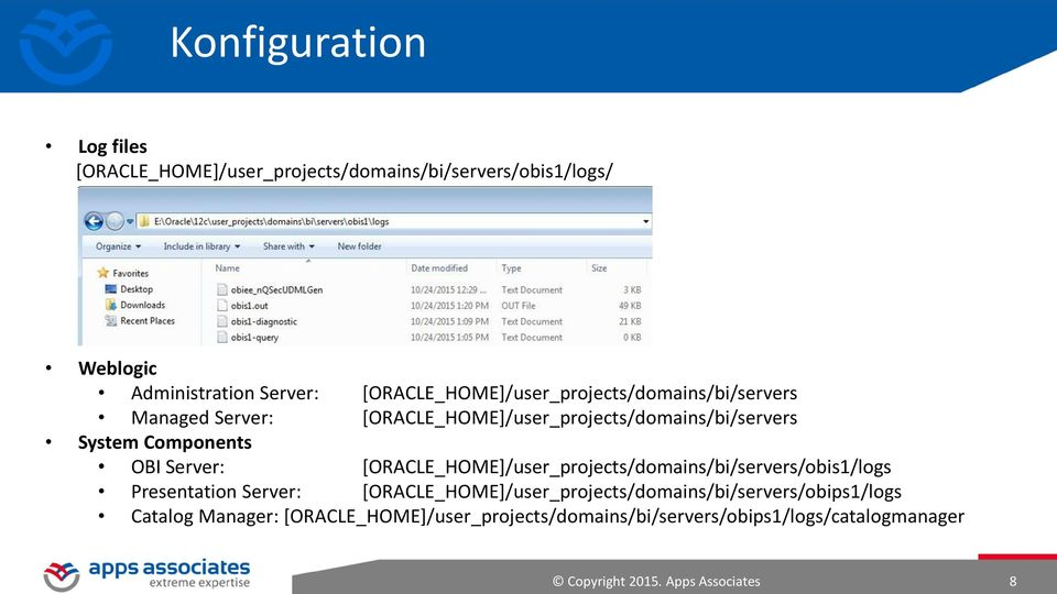 OBI Server: [ORACLE_HOME]/user_projects/domains/bi/servers/obis1/logs Presentation Server: