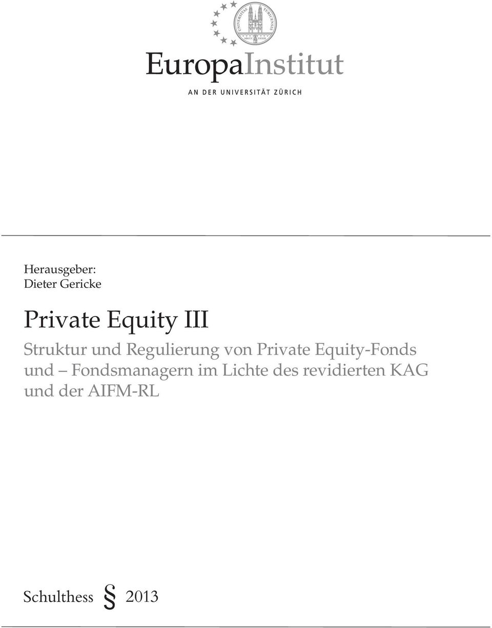 Private Equity-Fonds und Fondsmanagern