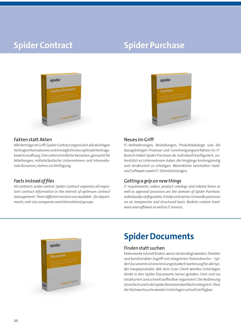 Spider Contract organizes all important contract information in the interest of optimum contract management.