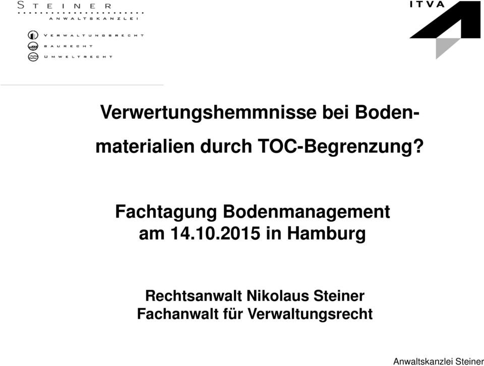 Fachtagung Bodenmanagement am 14.10.